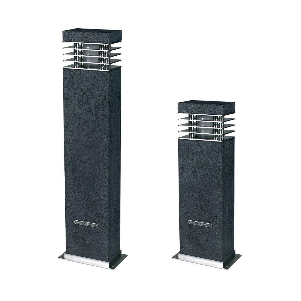 wegeleuchte aus granit mit edelstahl lamellen in 2 gr en wohnlicht. Black Bedroom Furniture Sets. Home Design Ideas