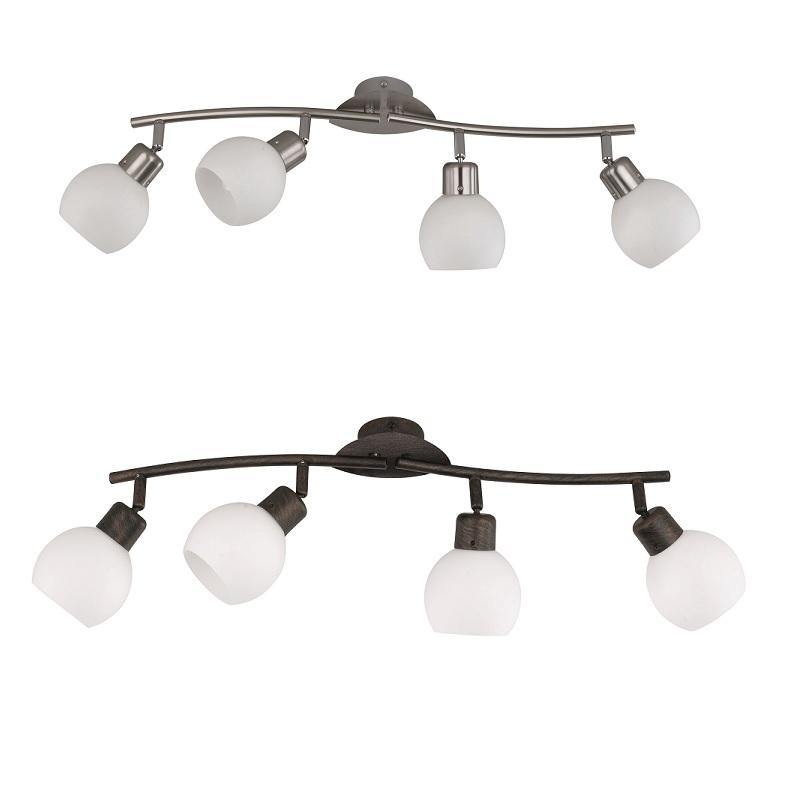 zeitloser led deckenstrahler 4 flammig 2 oberfl chen wohnlicht. Black Bedroom Furniture Sets. Home Design Ideas