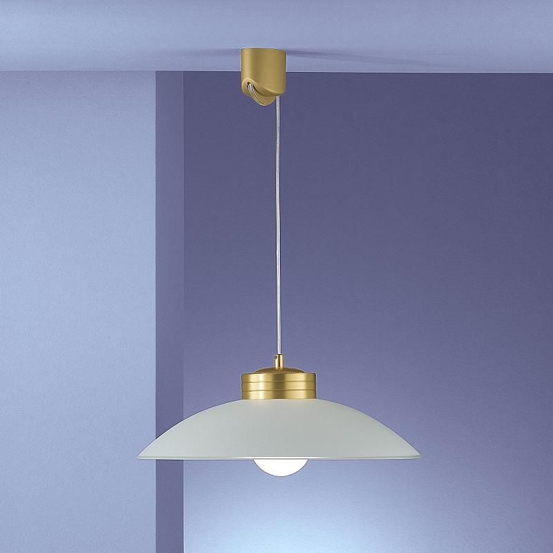 zugpendelleuchte glas satiniert 46cm messing matt wei messingfarbig messing matt wohnlicht. Black Bedroom Furniture Sets. Home Design Ideas